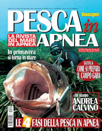 La copertina del numero 98 di Pesca in Apnea