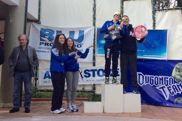 Bavusotto e Concas sul podio Elite con attrezzi (foto L. Ebreo)