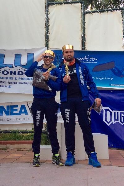 Bavusotto e Lispi incoronati dopo la premiazione (foto L. Ebreo)
