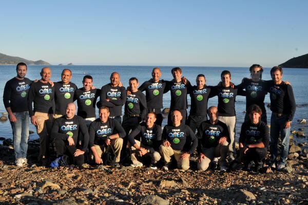 Il nutrita squadra agonista Omer / Sporasub coordinata da Marco Bardi