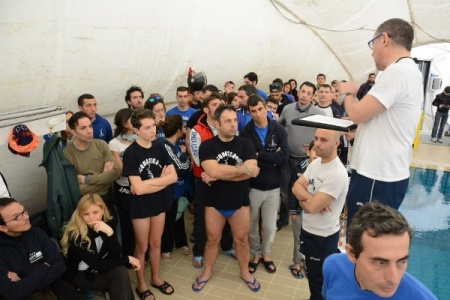 I partetecipanti radunati per il briefing iniziale (foto C. Isgrò)