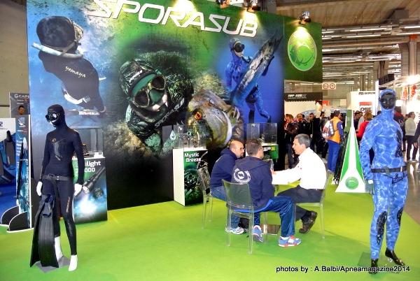 Il marchio Sporasub continuerà ad avere un ruolo molto importante (foto A. Balbi / Apnea Magazine)