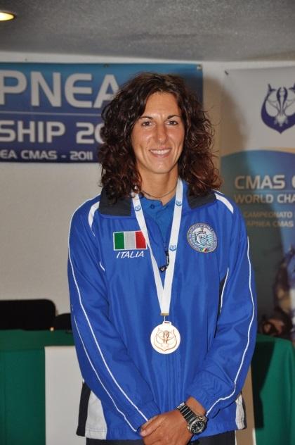 Monica Barbero, prima donna a ricoprire il ruolo di Direttore Tecnico nel Settore Attività Subacquee (foto M. Bellodi)