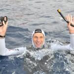 Gianluca Genoni a 152 metri in apnea profonda con scooter