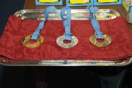 Le medaglie predisposte dalla CMAS per questo Monndiale (foto S. Rubera)