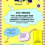 Trofeo Ocean Sub di tiro al bersaglio in programma domenica a Modena