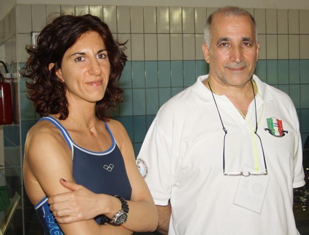 Monica Barbero con Domenico Blanda, in passato più volte Direttore Tecnico della Nazionale di apnea (foto S. Rubera - Apnea Magazine)