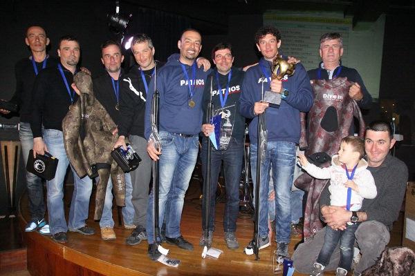 Il podio dopo le premiazioni (foto V. Prokic)