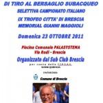 Il tirosub riparte da Brescia