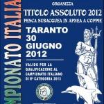 Taranto ospita il Campionato a Coppie 2012