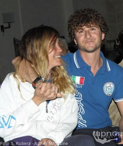 Alessia Zecchini e Vincenzo Ferri all'ultima DugonCup (foto S. Rubera - apnea Magazine)