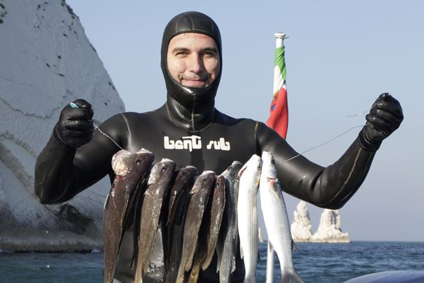 Otto pesci, con cinque corvine, per il vincitore Cioffi (foto F. Fiori)