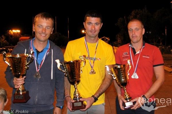 Il podio, da sinistra  Cobric, Gospic e Kesic (foto V. Prokic)