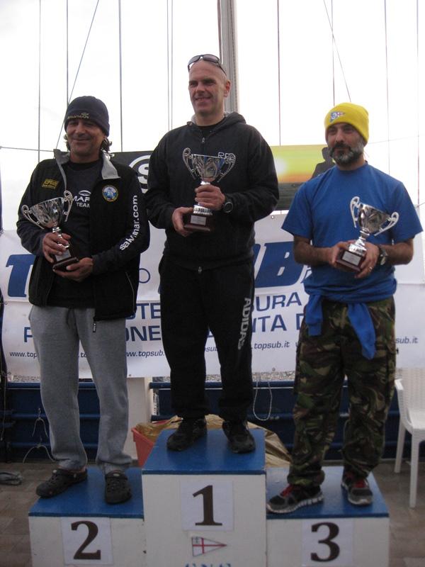 Il podio individuale (foto R. Repetto - CN Sturla)