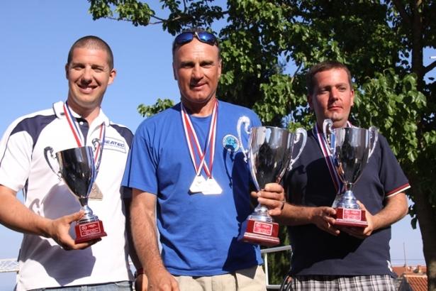 Il podio completo, da sinistra Urti, Ikic e Perusko (foto V. Prokic)