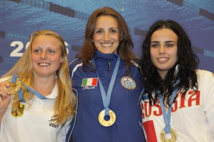 Martina Mongiardino al centro con l'oro nell'endurance (foto S. Rubera)