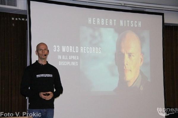 Herbert Nitsch protagonista indiscusso alla Deepex (foto V. Prokic)