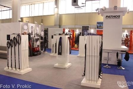 Una parte dello stand Pathos (foto V. Prokic)