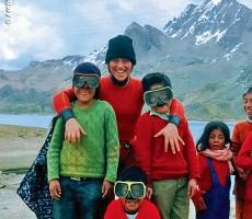 Sulle Ande, durante le immersioni in altitudine