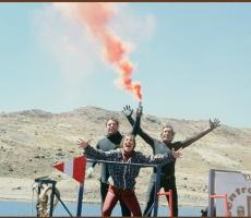 Con Jacques Mayol sulle Ande, durante gli studi scientifici sull' apnea a 5000 metri di altitudine