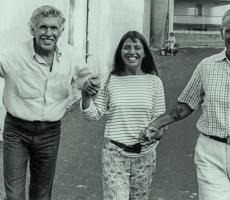Angela con Jacques Mayol e Enzo Maiorca a Siracusa