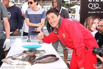 Xavi Blanco alla pesatura della seconda giornata (foto V. Prokic)