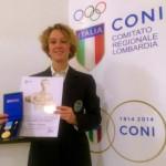 A Ilaria Bonin la medaglia d'oro al valore atletico