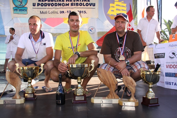 Il podio del Campionato nazionale croato 2015 (foto V. Prokic)
