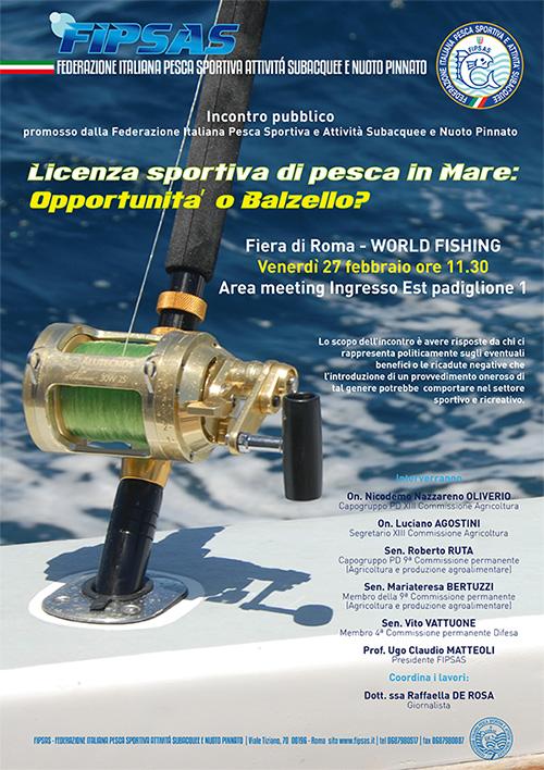 Dibattito FIPSAS sulla licenza in mare a pagamento