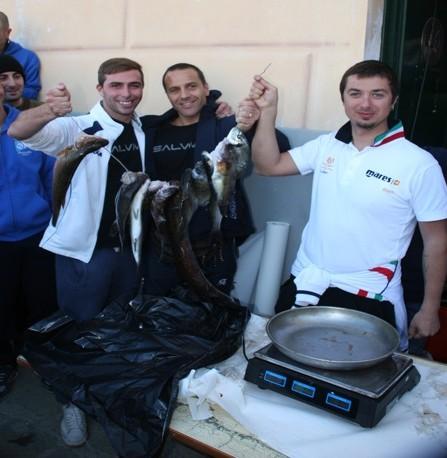 Il carniere del Club Sub Sestri Levante, terza società classificata. Foto: A. Della Chiesa