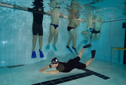Uno dei ragazzi impegnato durante l'allenamento (foto F. Amerio)