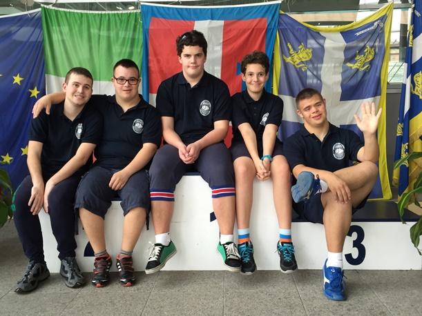 Il gruppo di atleti che ha partecipato al recente Campionato Italiano estivo di Torino (foto C. Bona)