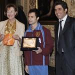 Nuoto pinnato: Stefano Figini premiato dal sindaco Letizia Moratti